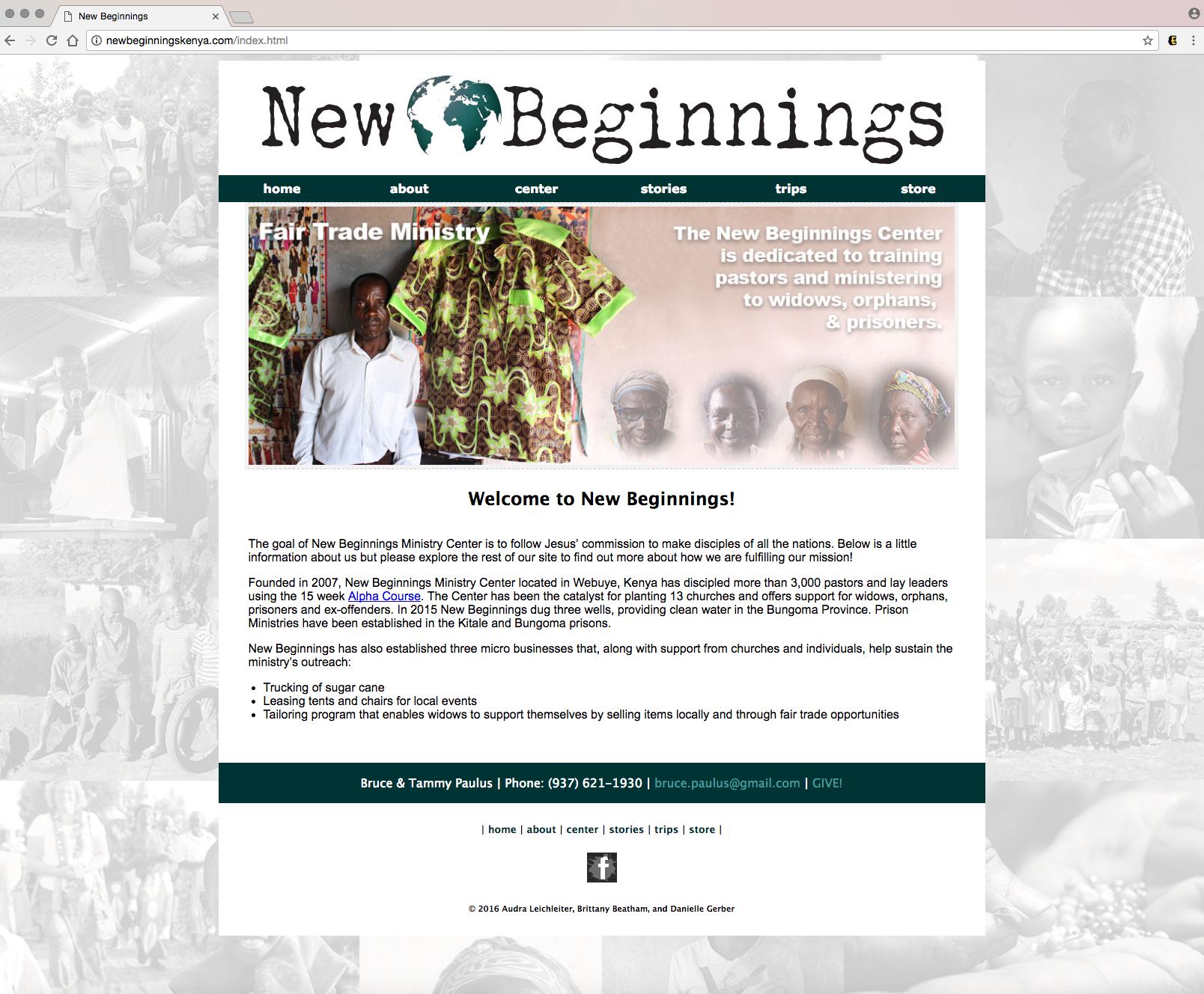 New Beginnings Kenya Orphans Kenya Widows