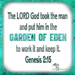 madeNeden Bible Verse Genesis 2:15