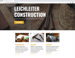 Leichleiter Construction Website