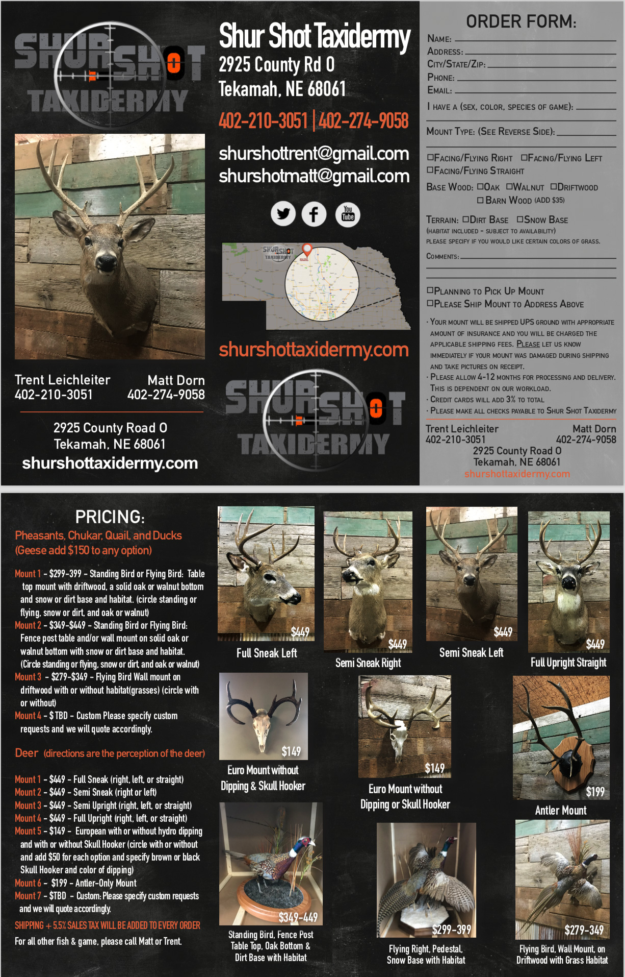 Shur Shot Taxidermy Brochure
